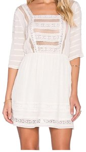Tularosa short dress white/ off white on Tradesy
