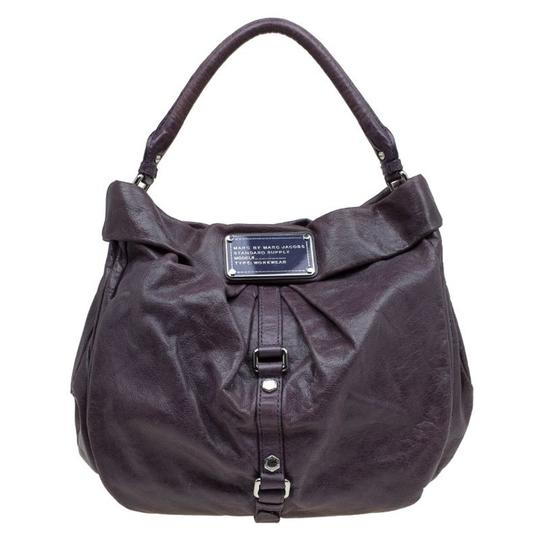 Preload https://item1.tradesy.com/images/marc-by-marc-jacobs-workwear-purple-leather-and-fabric-hobo-bag-23545890-0-0.jpg?width=440&height=440