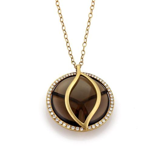 Preload https://item2.tradesy.com/images/19852-carelle-brooke-leaf-diamond-smokey-quartz-18k-gold-pendant-necklace-23545896-0-0.jpg?width=440&height=440