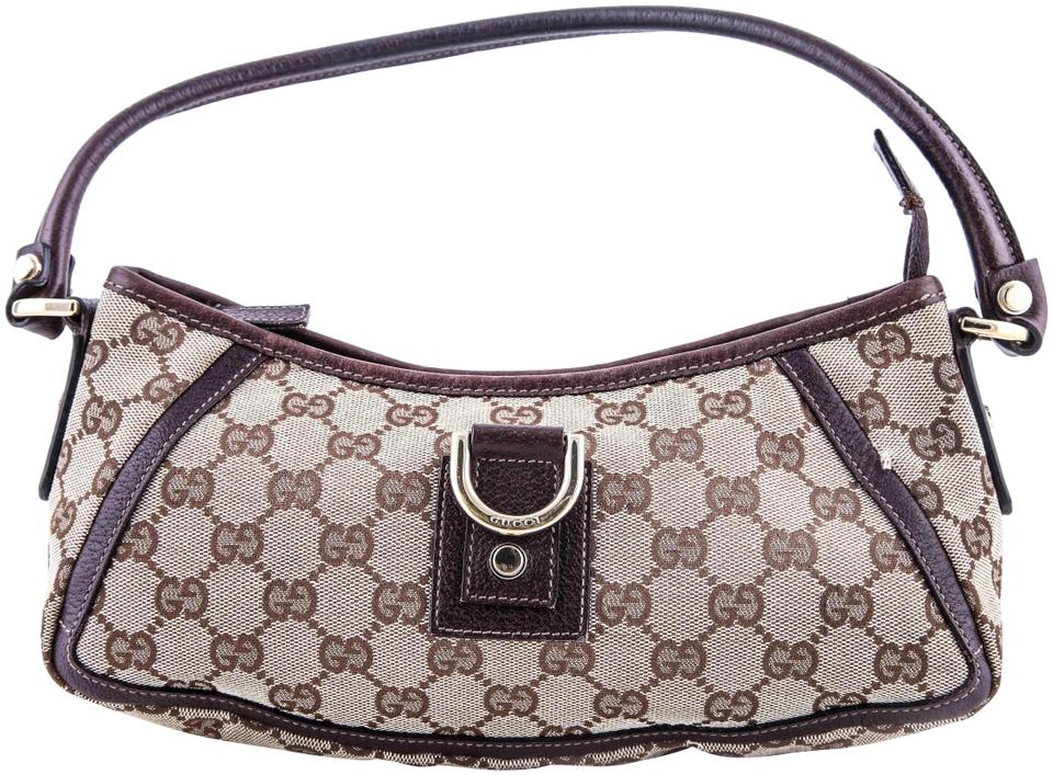 37661852d40 Gucci Abbey Monogram D Ring Pochette Brown Canvas Shoulder Bag - Tradesy