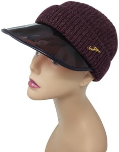 Louis Vuitton Burgundy Louis Vuitton LV logo cashmere beanie