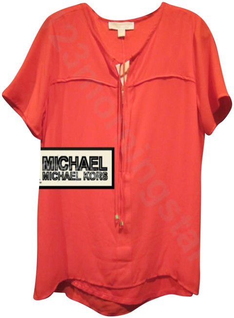 Preload https://img-static.tradesy.com/item/23545961/michael-michael-kors-coral-drawstring-and-gold-zipper-style-no-qs54b9m233-blouse-size-8-m-0-1-650-650.jpg