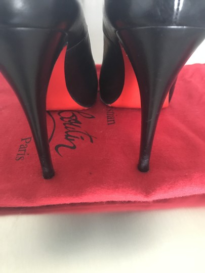 Christian Louboutin High Heels Leather Designer Black Pumps