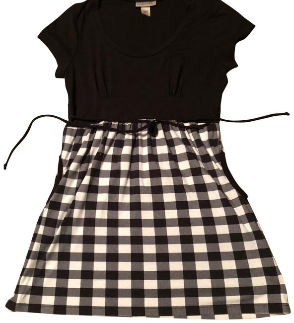 Preload https://item5.tradesy.com/images/belle-du-jour-black-gray-white-checkered-pinup-vintage-babydoll-empire-stretch-tie-waist-tunic-blous-23546004-0-1.jpg?width=400&height=650