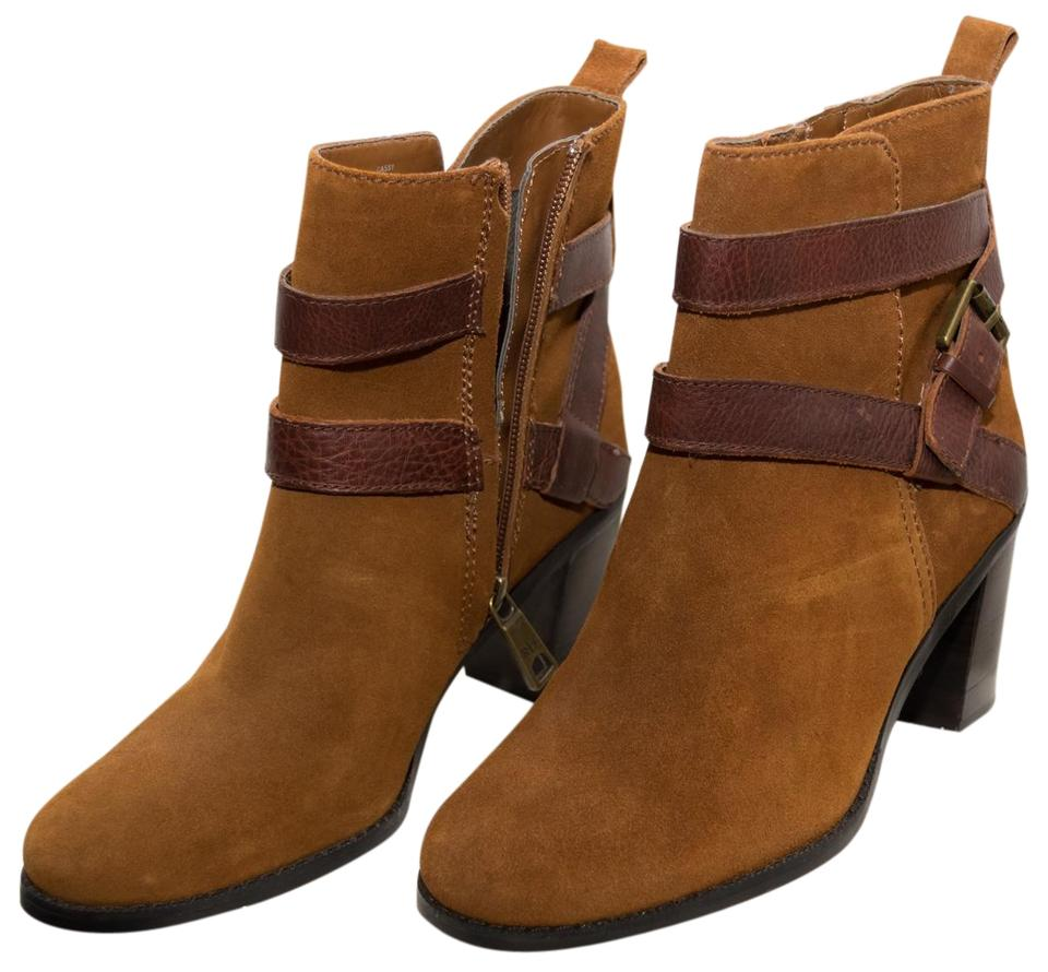 de4e41ce2ee Ralph Lauren Brown Suede Cassy with Leather Cross Straps Boots/Booties Size  US 7 Regular (M, B) 50% off retail