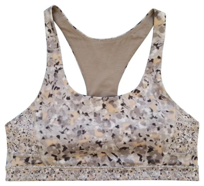 Item - Gray Silver Top Speed Fleur Spoon Racerback Fitness Activewear Sports Bra Size 4 (S, 27)
