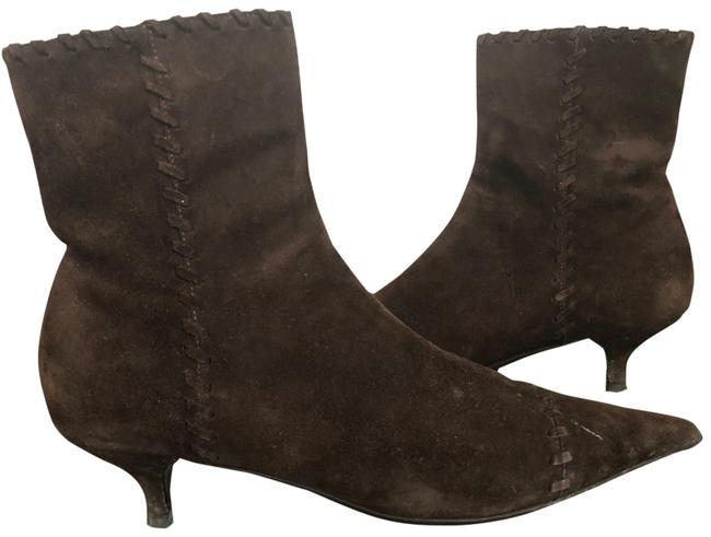Item - Brown Ankle Suede Boots/Booties Size US 8 Regular (M, B)