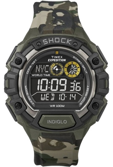 Timex Timex Male Casual Watch T49971 Camouflage Digital