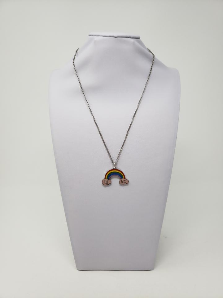 1d9ee73e33a Gucci Sterling silver Gucci GucciGhost rainbow charm necklace Image 11.  123456789101112
