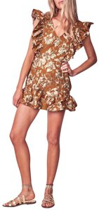 LoveShackFancy short dress Brown on Tradesy