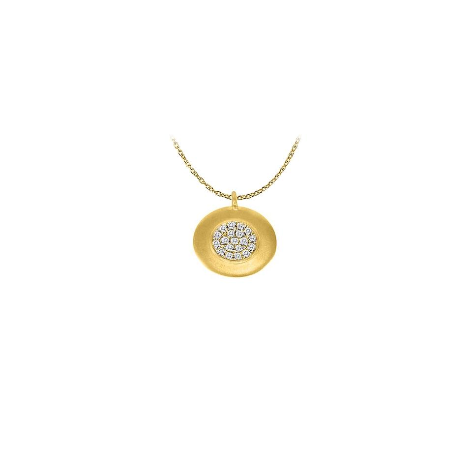 Yellow yellow gold disc pendant with april birthstone diamond in 14k marco b disc pendant with april birthstone diamond in 14k yellow gold 010 ct aloadofball Choice Image