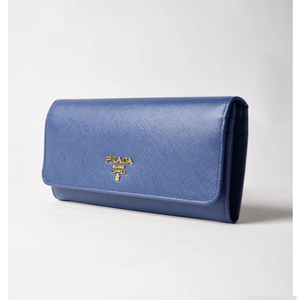 Body Leather Blue Continental Prada Metal Cross Long Saffiano Navy Bag Wallet 0FHzqOwH