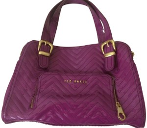 60452b8a8 Ted Baker Patent Leather Fashion Handbag Satchel in Magenta