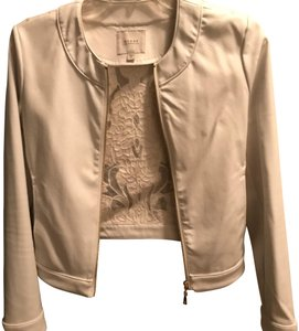 Guess By Marciano Night Out Floral Lace Date Night white Leather Jacket