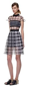 self-portrait short dress Black and White Checkered on Tradesy
