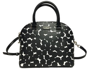Kate Spade Leather Black/Cream Wkru4677 Cross Body Bag