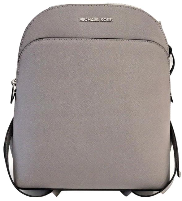 Item - Emmy Pearl Grey Leather Backpack