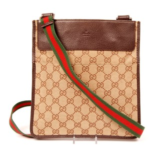 Gucci Coated Canvas Vintage Cross Body Bag
