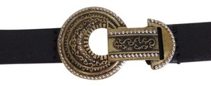 Chico's Chico's Adjustable New Trouser Leather Belt with Brass Fittings