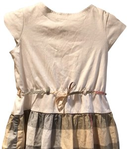 Burberry short dress white, beige, grey and red on Tradesy