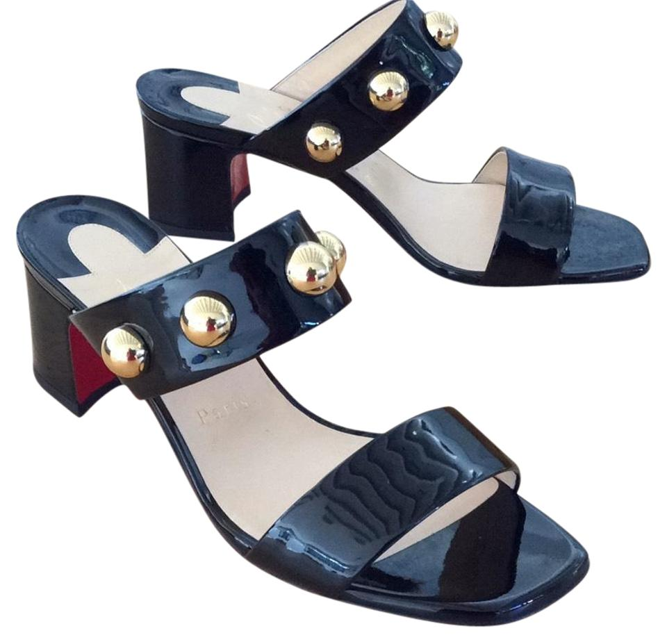 more photos 98745 fcb8a Christian Louboutin Black Simple Bille Sandals Heel 38 Mules/Slides Size US  8 Regular (M, B) 3% off retail