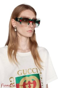 Gucci Gucci Sunglasses GG0178S 001 GG 0178 Square Sunglasses