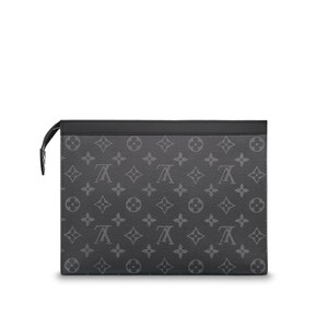 Louis Vuitton Eclipse Voyage Pochette BLACK Clutch