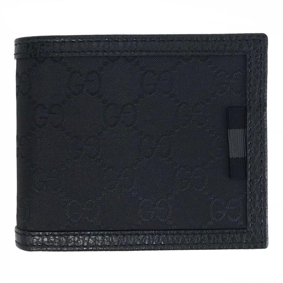 689c7fa03336 Gucci Black New Men s 260987 Gg Guccissima Nylon Bifold Wallet 50% off  retail