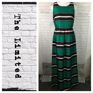 Black/Jade/White Maxi Dress by The Limited