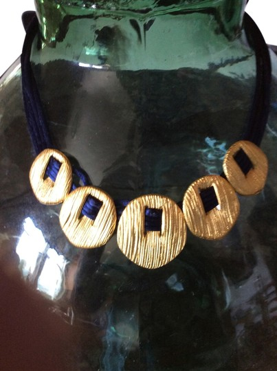 Casual Corner Casual Corner Navy Blue and Gold necklace
