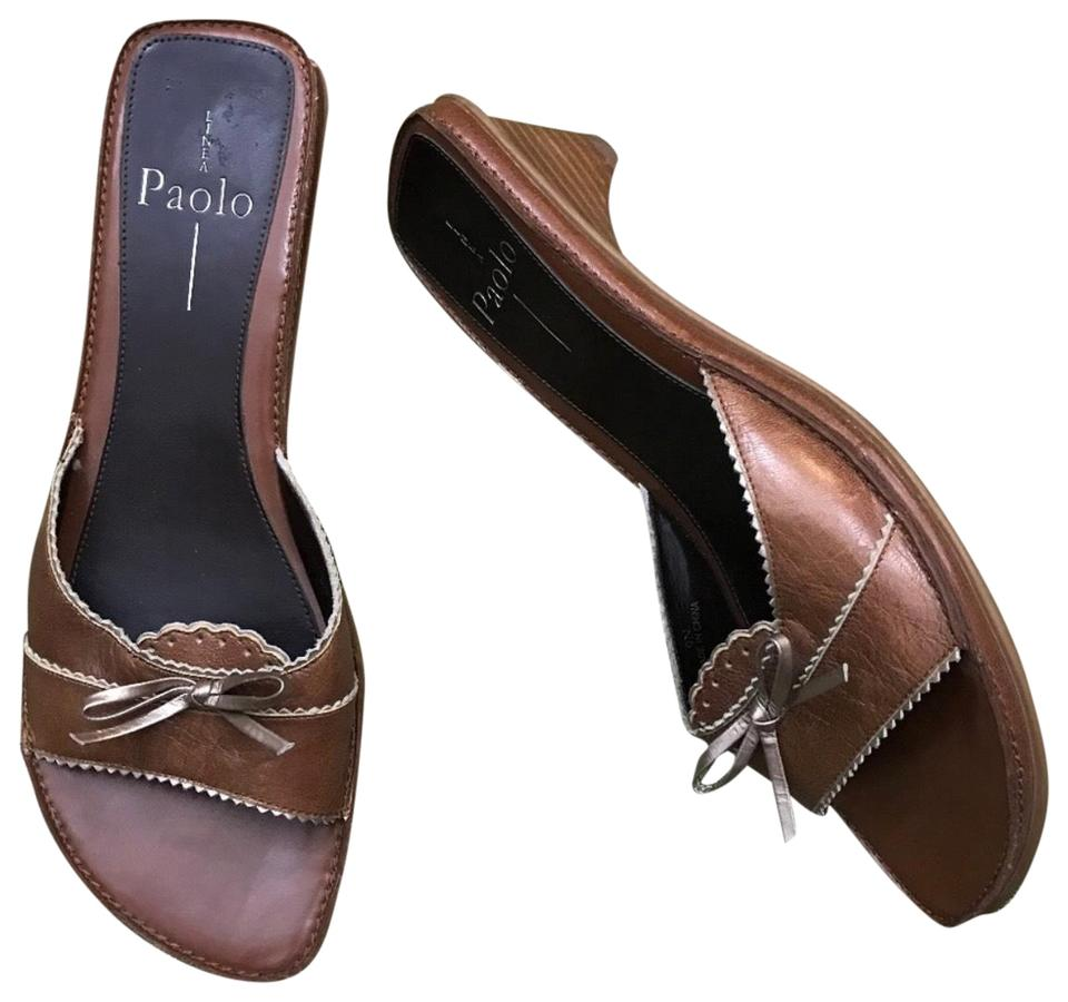 833a6ff60 Linea Paolo Brown Bow Sandals. Size  US 9 Narrow (AA ...