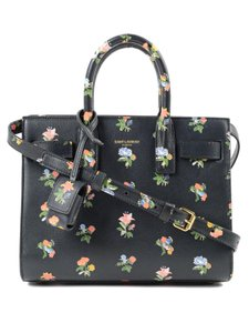 ab88f0d62cf9 Saint Laurent Sac De Jour Handbag Floral Mini Handbag Cross Body Bag