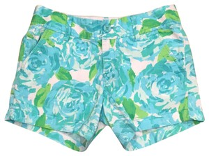 Lilly Pulitzer Perfect Condition 5 Bright Floral Mini/Short Shorts Blue, Green, White