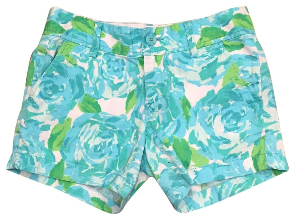 8a15541171efaf Lilly Pulitzer Perfect Condition 5 Bright Floral Mini/Short Shorts Blue,  Green, White ...