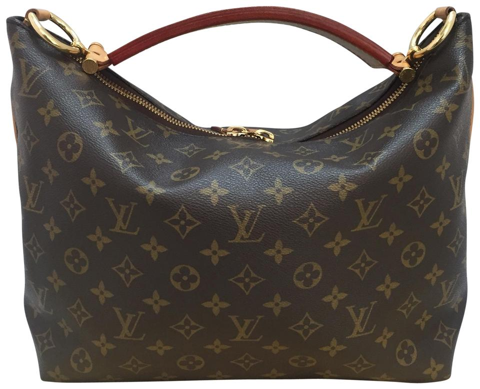 72911b2a0af8 Louis Vuitton Sully Pm with Dustbag Brown Monogram Canvas Hobo Bag ...