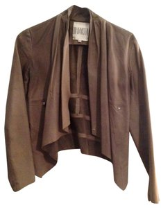 BB Dakota Leather Beige Moto Beige-Grey Leather Jacket
