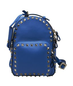 Valentino Duffle Leather Backpack