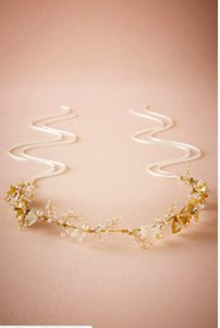 BHLDN White and Gold Ethereal Floral Halo Hair Accessory