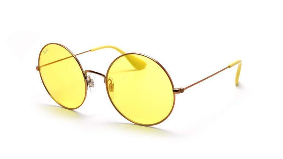 30272241be7ea Ray-Ban Ray Ban Women Round Sunglasses RB3592 9035C9 Copper Frame Yellow  Lens Image 0 ...