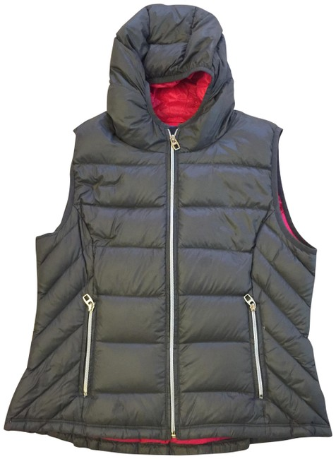 Item - Grey & Pink Down Feather Vest Size 10 (M)