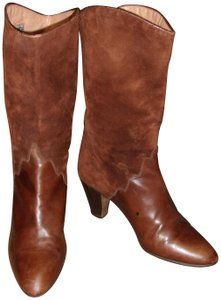Andrea Carrano Suede Leather brown Boots