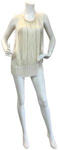 Stella McCartney Fringe Silk-crepe Top Ivory