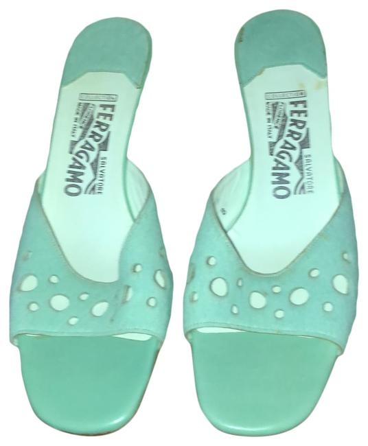 Item - Pale Aqua Sandals Size US 9 Regular (M, B)