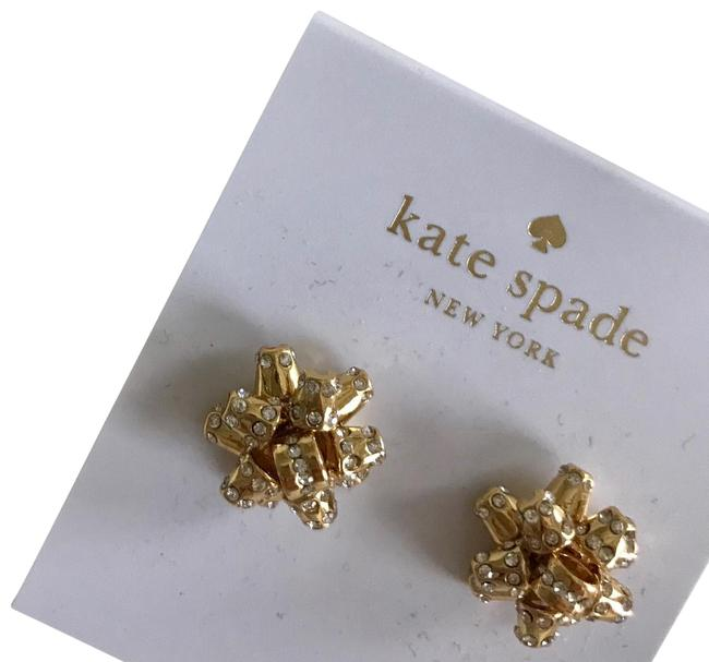 Kate Spade Gold Pave Bourgeois Bow Earrings Kate Spade Gold Pave Bourgeois Bow Earrings Image 1