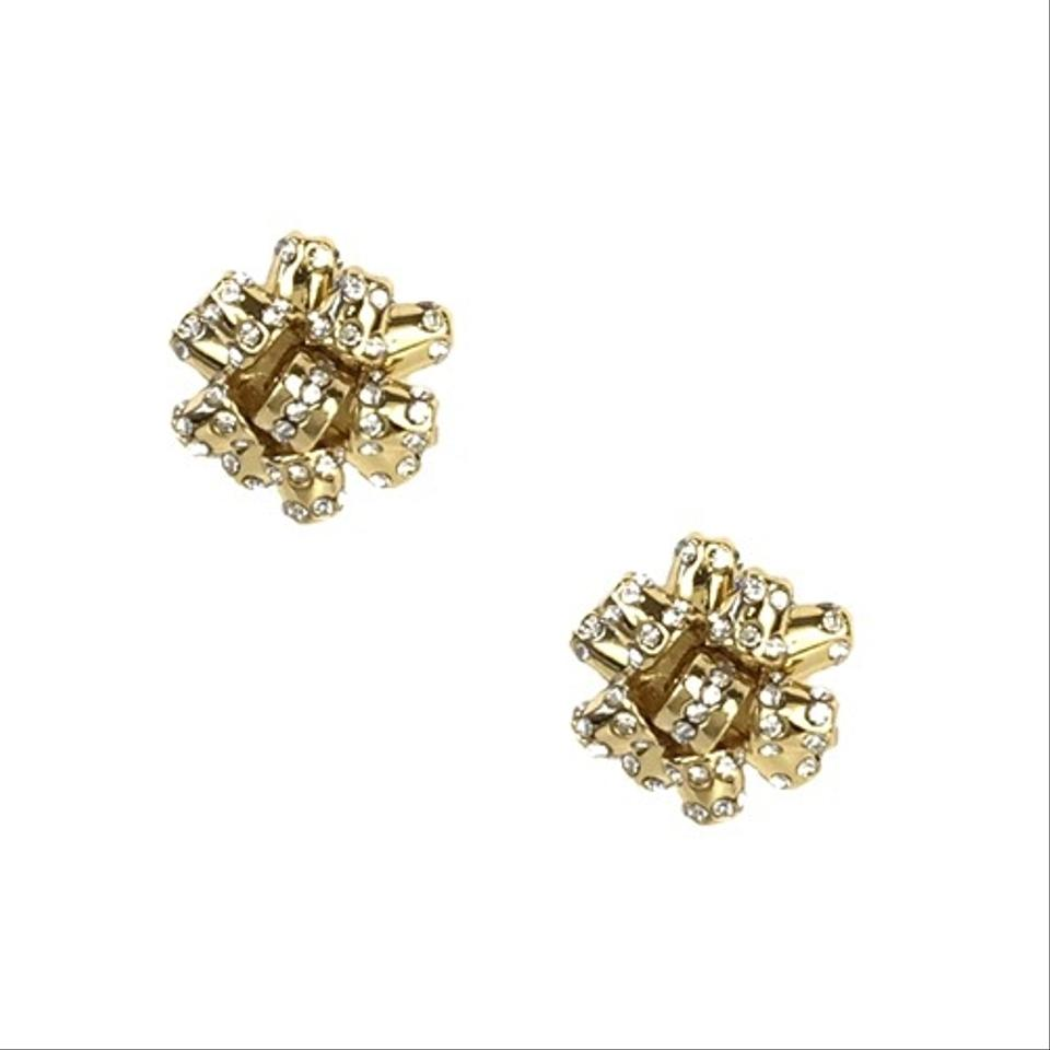 5090608ef3ada Kate Spade Gold Pave Bourgeois Bow Earrings 36% off retail