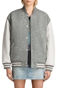AllSaints grey Leather Jacket
