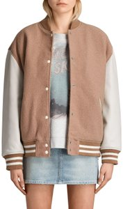 AllSaints oyster Leather Jacket