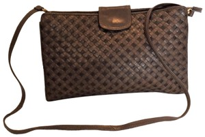 Ganson Rare Style Two-way Style Shoulder Brown Cross Body Bag
