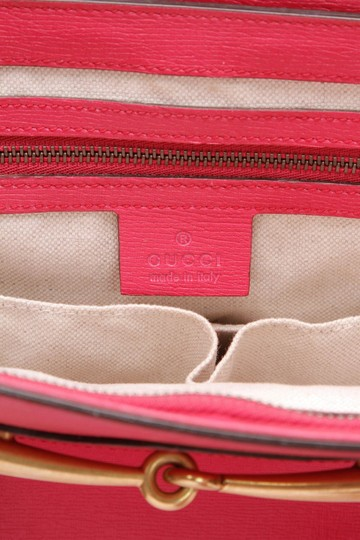 2b517aa637eb Gucci Bright Bit Medium Top Handle Fuchsia Pink Leather Shoulder Bag ...