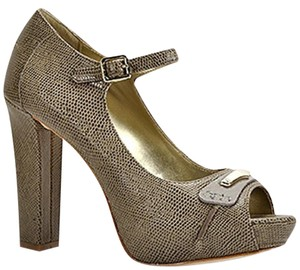 Juicy Couture Taupe Lizard Platforms